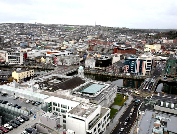 View from the Elysian Building, Cork City