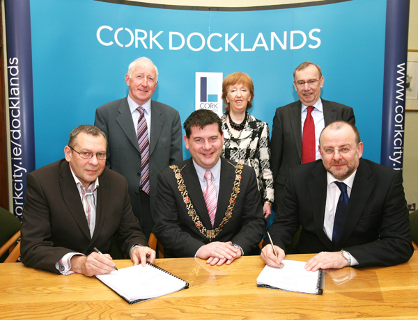 Contract signed for Cork Dockland's public areas at City Hall
